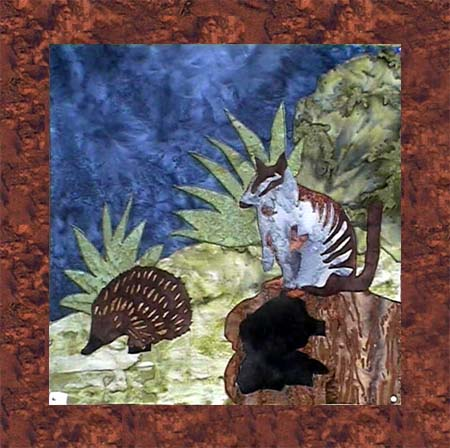 Bush Animals - B6 - Echidna with Numbat - Pattern Only