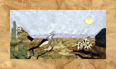 State of Arizona - Block 1 - Cactus Wrens and Rattlesnake - Pattern Only