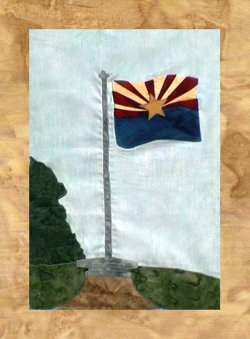 State of Arizona - Block 7 - Arizona State Flag - Pattern Only