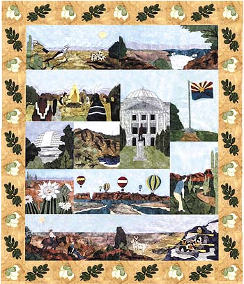 State of Arizona - All Blocks 1-13 - Kit with Pattern and Fabric