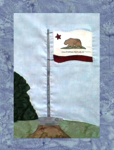State of California - Block 7 - California State Flag - Pattern Only