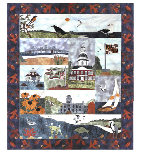 State of Maryland - All Blocks 1-13 - Kit with Pattern and Fabric