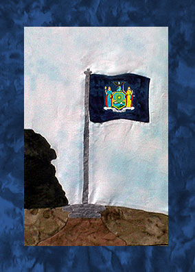 State of New York - Block 7 - New York State Flag - Pattern Only