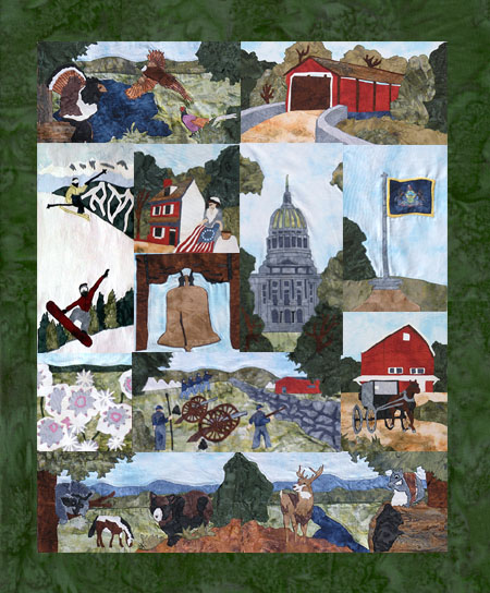State of Pennsylvania - All Blocks 1-13 - Kit with Pattern and Fabric