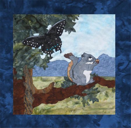 US Lake Butterflies - B1 - Black Swallowtail and Squirrel - Pattern Only