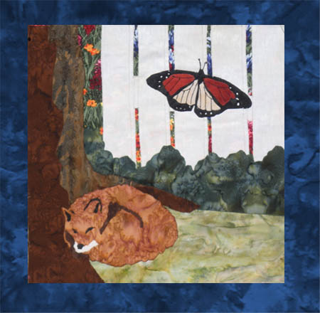 US Lake Butterflies - B5 - Fox and Monarch - Pattern Only