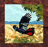 Parrots of Paradise - B2 - Red Tailed Black Cockatoo - Pattern Only