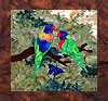 Parrots of Paradise - B3 - Rainbow Lorikeets with Butterfly - Pattern Only