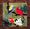 Parrots of Paradise - B6 - Crimson , Pale Headed, and Eastern Rosellas - Pattern Only