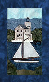 State of New York - Block 3 - Saugerties Lighthouse and Hudson River Sloop - Pattern Only